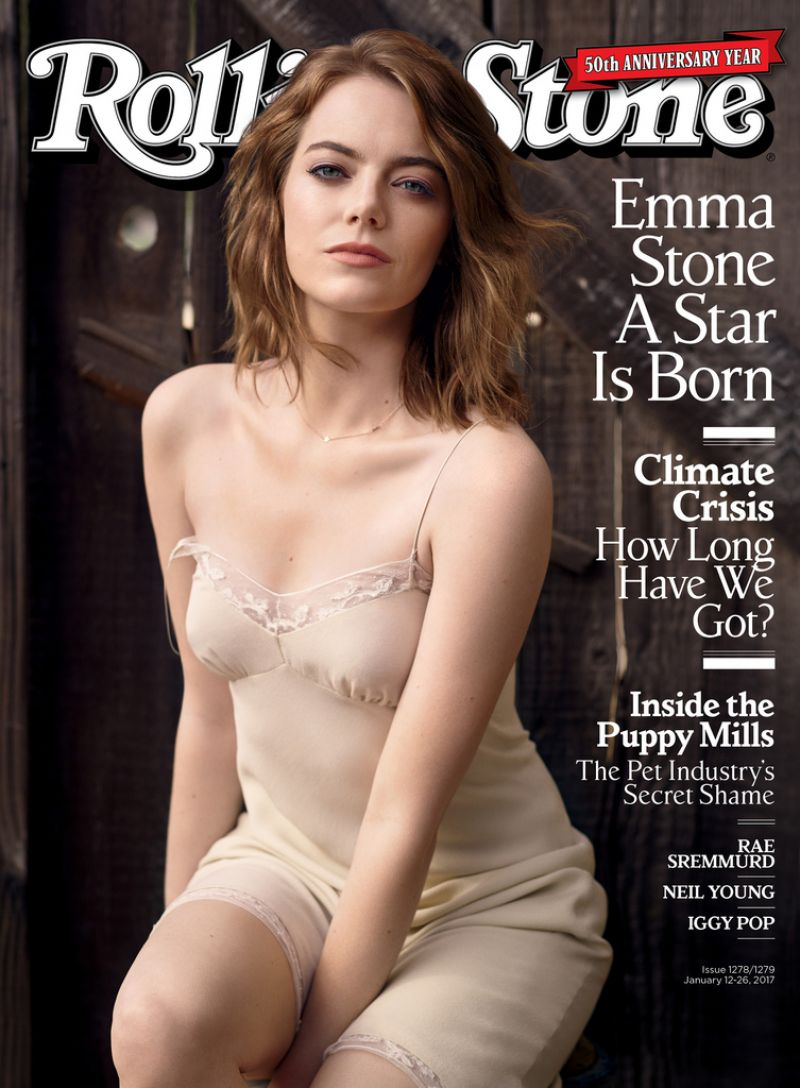 EMMA STONE in Rolling Stone Magazine, January 2017