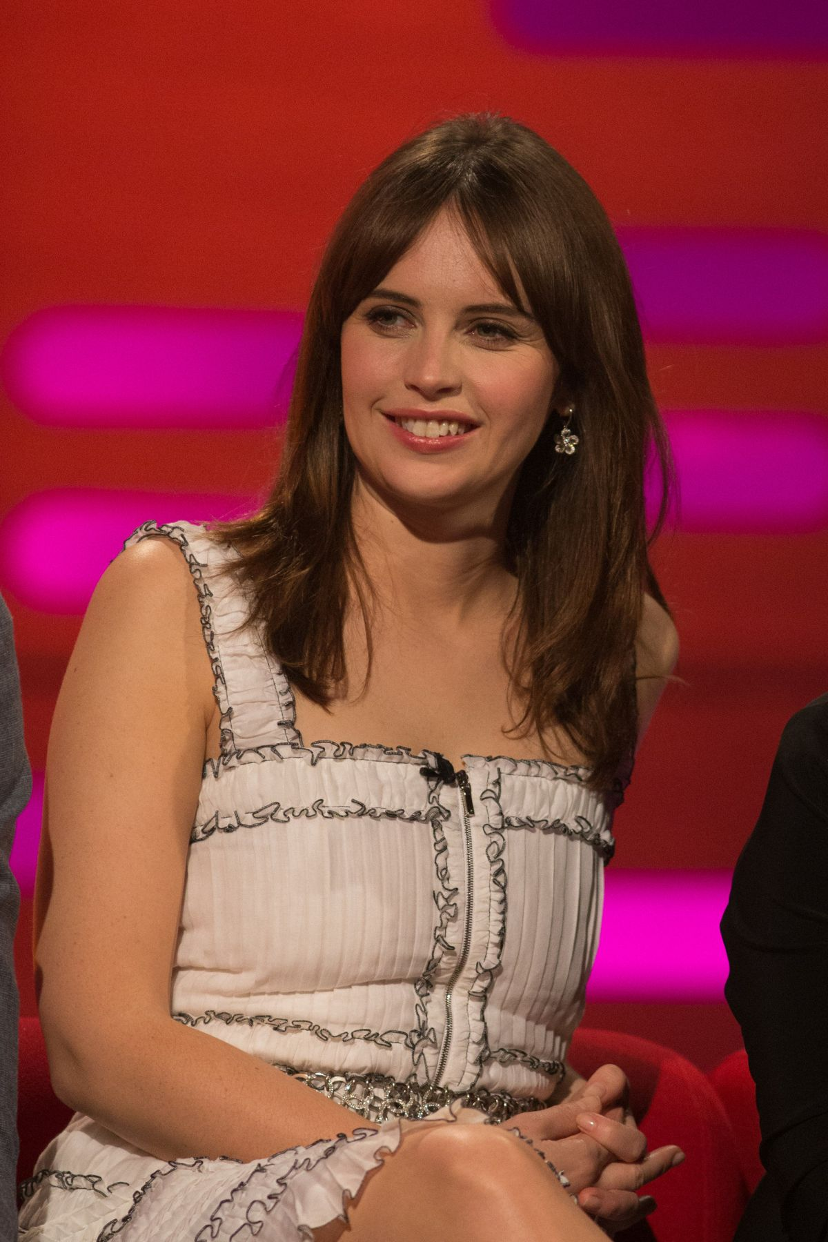 FELICITY JONES at The Graham Norton Show in London 12/15/2016