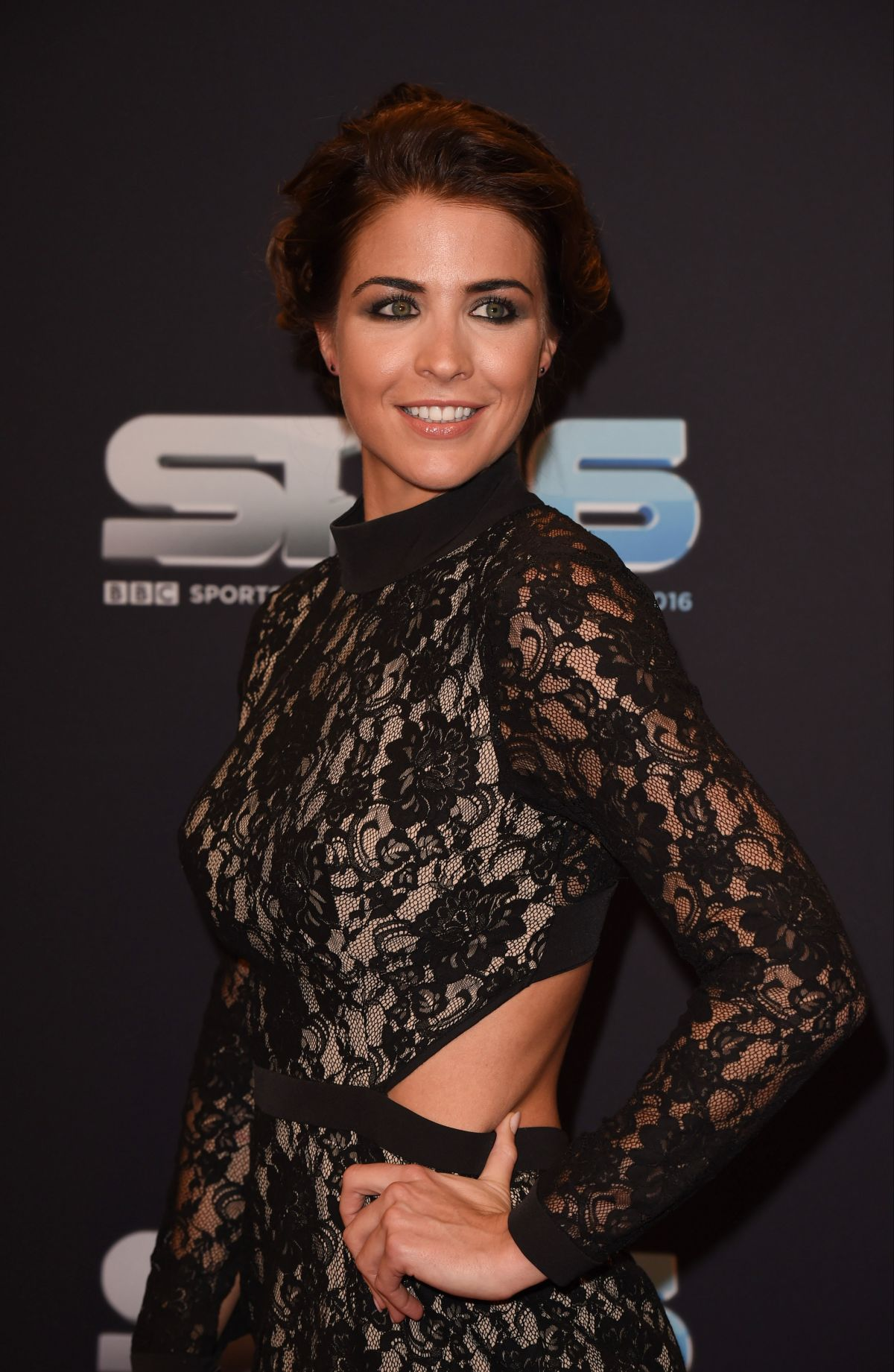 GEMMA ATKINSON at BBC Sports Personality of the Year in Birmingham 12/18/2016