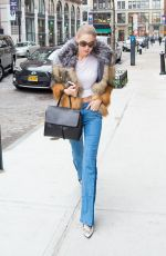 GIGI HADID Arrives at Her Hotel in New York 12/11/2016