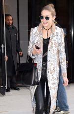GIGI HADID Leaves Her Hotel in New York 12/12/2016