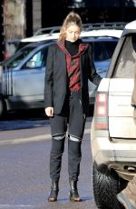 GIGI HADID Out and About in Aspen 12/30/2016