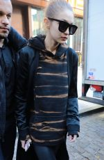 GIGI HADID Out and About in New York 12/09/2016
