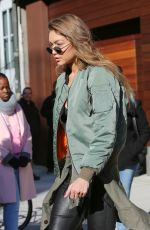 GIGI HADID Out and About in New York 12/14/2016