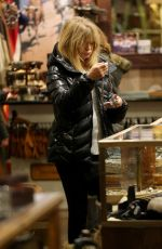 GOLDIE HAWN Out for Shopping in Aspen 12/22/2016