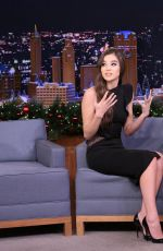 HAILEE STEINFELD at Tonight Show Starring Jimmy Fallon in New York 12/12/2016