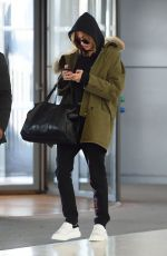 HAILEY BALDWIN at JFK Airport in New York 12/19/2016