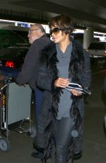 HALLE BERRY at Los Angeles International Airport 12/11/2016