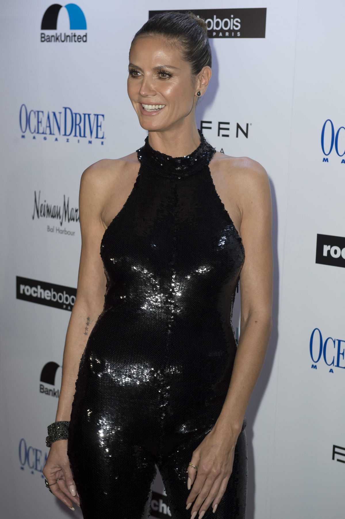 HEIDI KLUM at Ocean Drive Magazine December Issuce Cover Party in ...