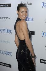HEIDI KLUM at Ocean Drive Magazine December Issuce Cover Party in Miami 11/29/2016