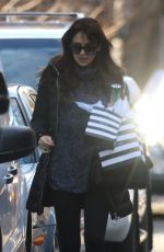 HILARIA BALDWIN Arrives at Her Home in New York 12/19/2016