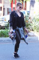 HILARY DUFF Arrives at a Gym in Studio City 12/28/2016