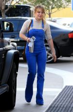 HILARY DUFF Arrives at Lancer Dermatology in Los Angeles 12/14/2016