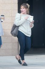 HILARY DUFF at a Fire Department in Studio City 12/05/2016