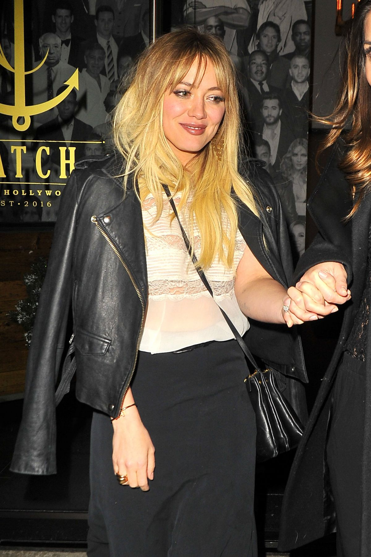 HILARY DUFF at Catch LA in West Hollywood 12/17/2016