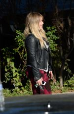 HILARY DUFF in Leggings Out and About in Los Angeles 12/08/2016