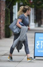HILARY DUFF Leaves a Gym in Los Angeles 12/21/2016