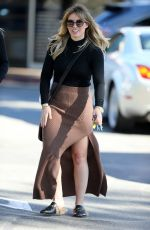 HILARY DUFF Out and About in Bel-air 11/30/2016