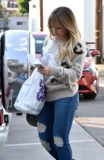 HILARY DUFF Out and About in West Hollywood 12/07/2016