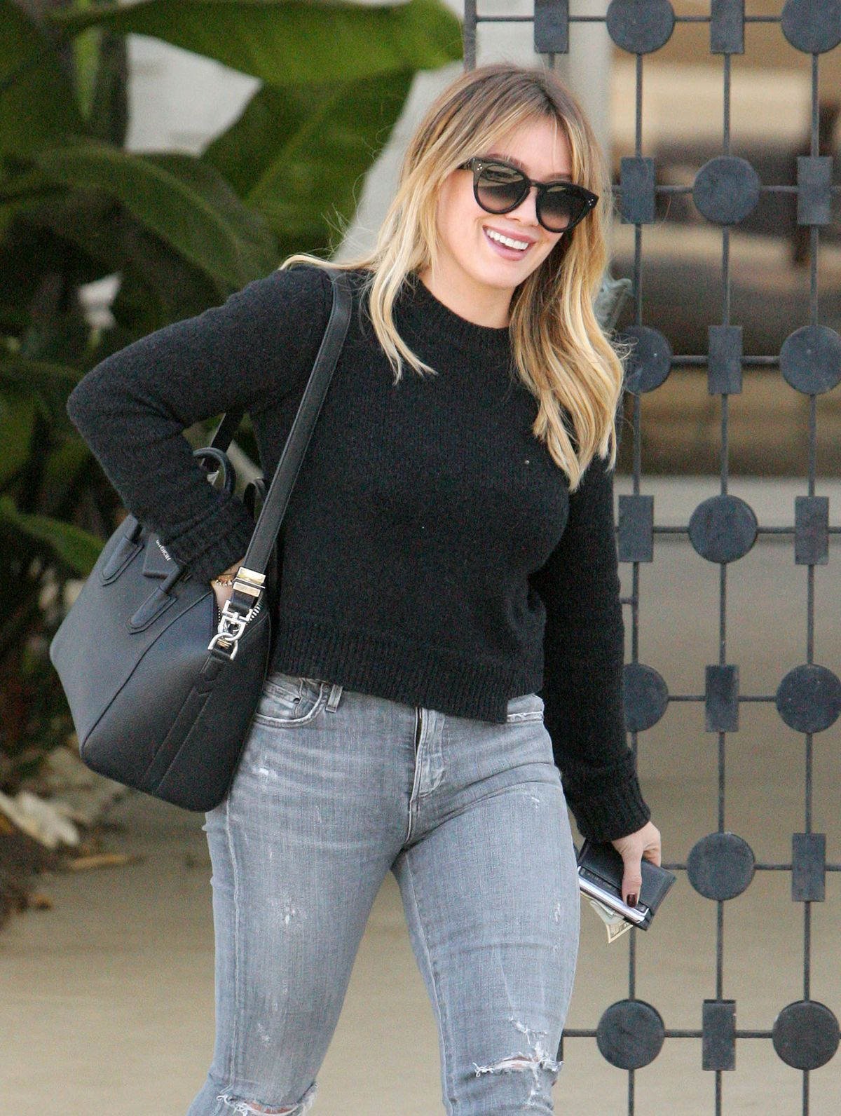 HILARY DUFF Out Shopping in Beverly Hills 12/02/2016