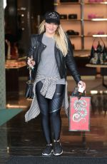 HILARY DUFF Out Shopping in Beverly Hills 12/16/2016