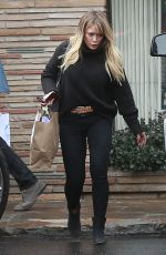 HILARY DUFF Out Shopping in Studio City 12/22/2016
