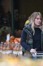 HILARY DUFF Shopping at Whole Foods in Los Angeles 12/11/2016