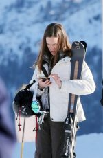 HILARY SWANK with Her Boyfriend in St, Moritz 12/11/2016