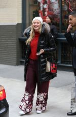 ISKRA LAWRENCE Out and About in New York 12/10/2016