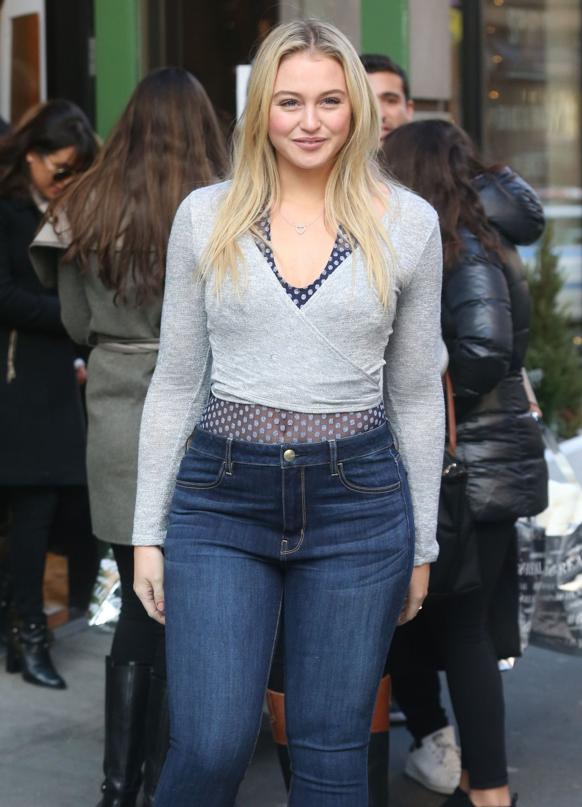 ISKRA LWRENCE at Aerie Popup Shop in New York 12/15/2016