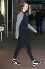 IVANKA TRUMP Heading to a Gym in New York 12/22/2016