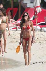 IZABEL GOULART in Bikini on the Beach of St. Barts 12/28/2016