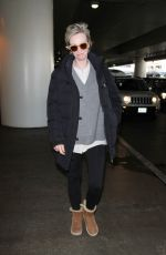 JANE LYNCH at Los Angeles International Airport 12/16/2016