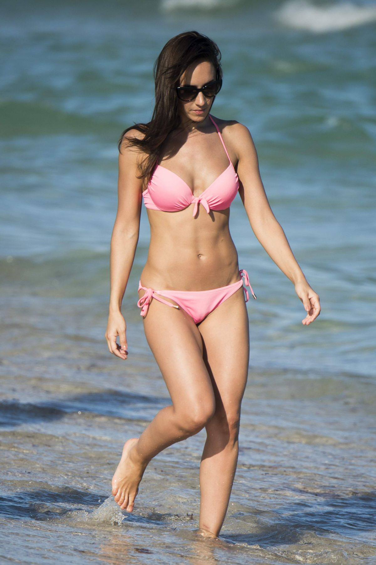 JANETTE MANRARA in Bikini on the Beach in Miami 12/28/2016