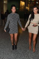JEMMA LUCY Arrives at a Boxing Match in Manchester 12/12/2016