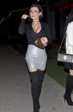 JENNI JWOWW FARLEY at Boa Steakhouse in West Hollywood 12/02/2016