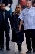 JENNIFER ANISTON Arrives at Jimmy Kimmel Live in Hollywood 12/08/2016