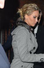 JENNIFER LAWRENCE Leaves Her Hotel in London 12/01/2016