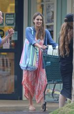JESSICA ALBA Out Shopping in Hawaii 12/29/2016