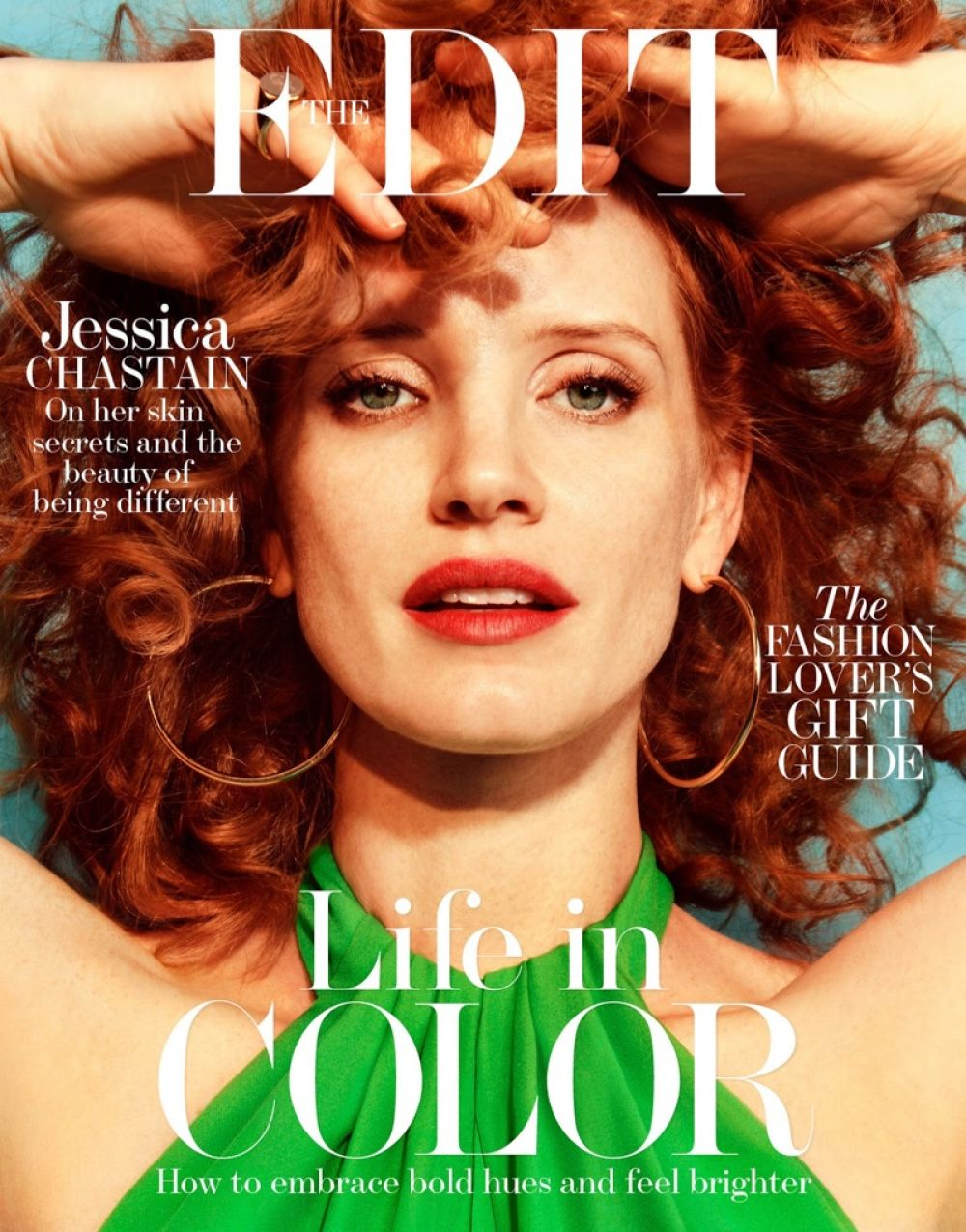 JESSICA CHASTAIN in The Edit Magazine, December 2016