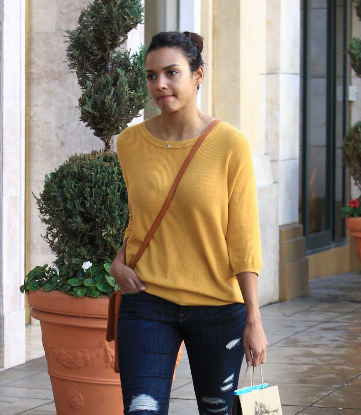JESSICA LUCAS Out Shopping in Los Angeles 12/22/2016