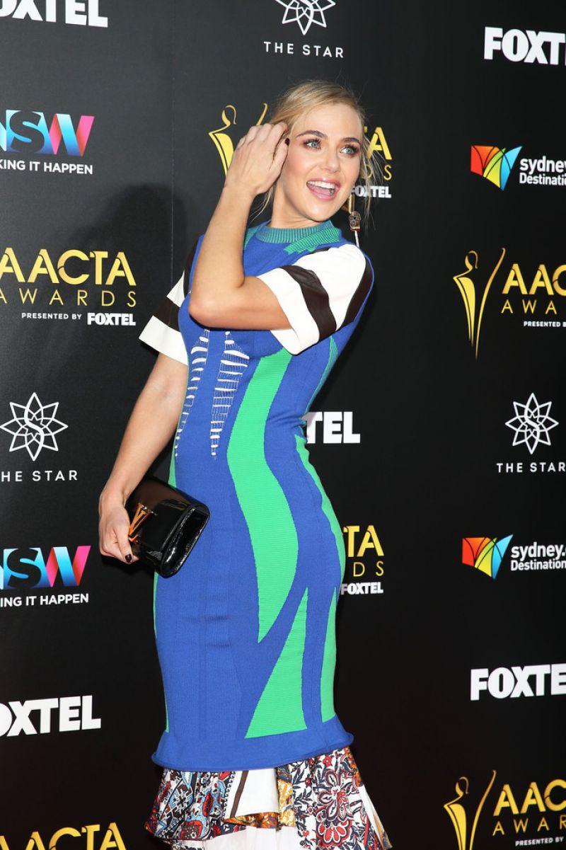 JESSICA MARAIS at 6th Aacta Awards in Sydney 07/12/2016