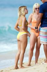 JESSICA WOODLEY in Bikini on the Beach in Barbados 12/18/2016