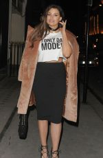 JESSICA WRIGHT Out for Dinner in London 12/22/2016