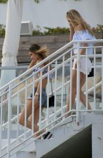 JOCELYN CHEW and DANIELLE KNUDSON in Bikinis at a Beach in Miami 12/01/2016