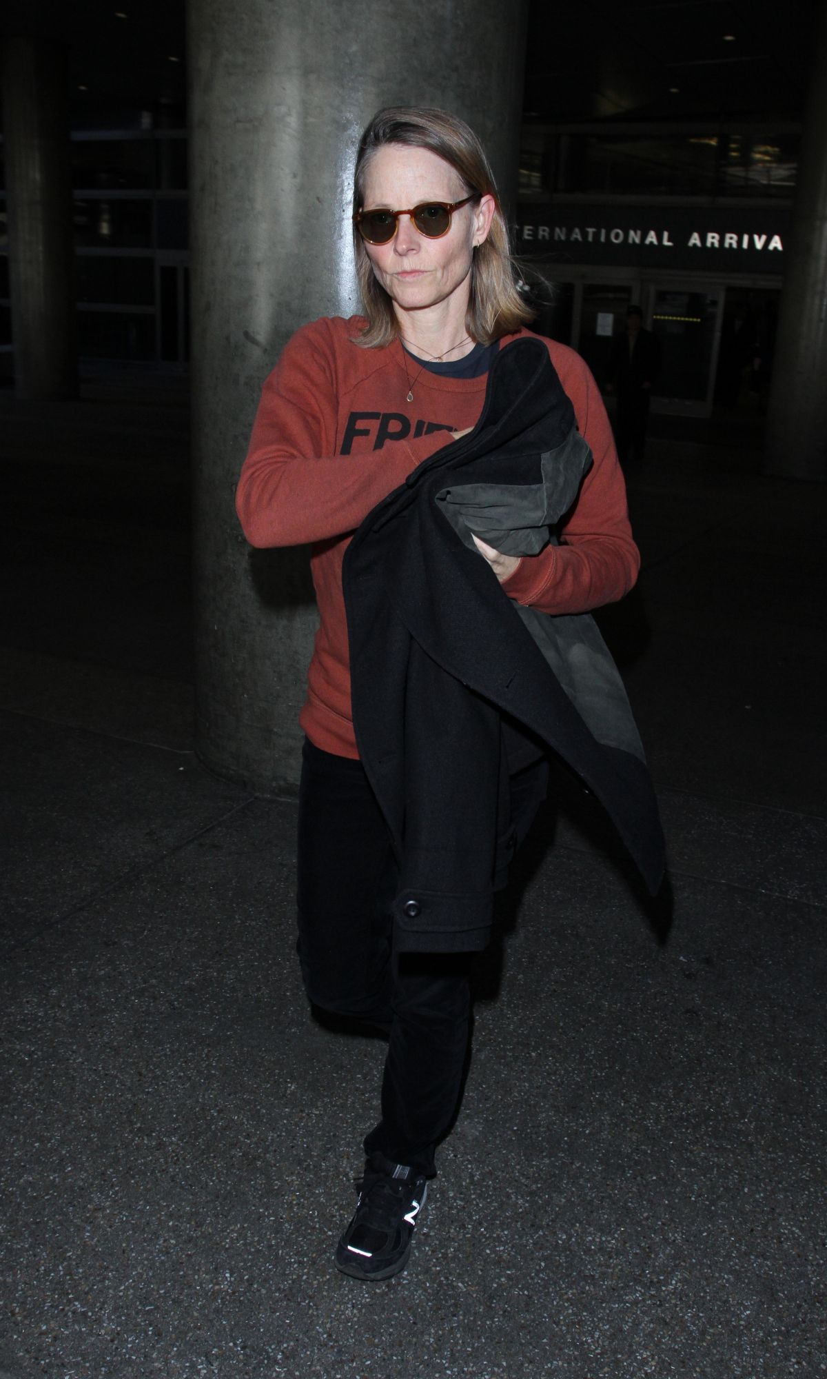 JODIE FOSTER at LAX Airport in Los Angeles 12/16/2016