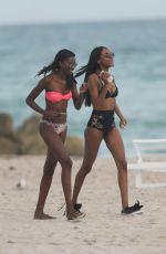 JOURDAN DUNN and SIGAIL CURRIE in Bikinis on the Beach in Maimi 12/01/2016