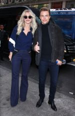 JULIANNE HOUGH Arrives with Her Brother at Extra Studios in New York 12/13/2016