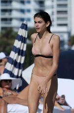 KAIA GERBER in Bikini on the Beach in Miami 12/27/2016
