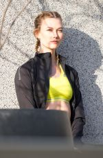 KARLIE KLOSS on the Set of Adidas Photoshoot in Berlin 12/08/2016